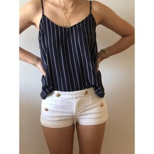 Juicy Couture White Sailor Shorts